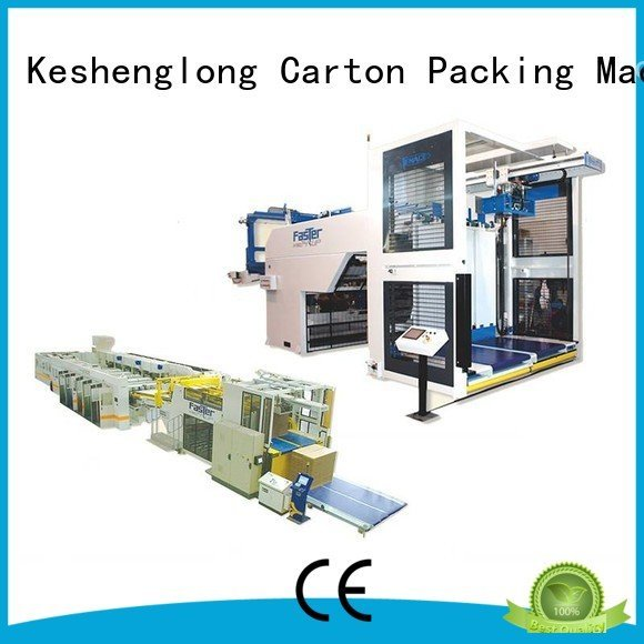 cardboard box printing machine three color cardboard box printing machine KeShengLong Brand