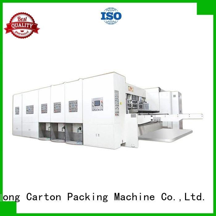 Hot flexo printing and die cutting machine die automatic printing slotting die cutting machine three color KeShengLong