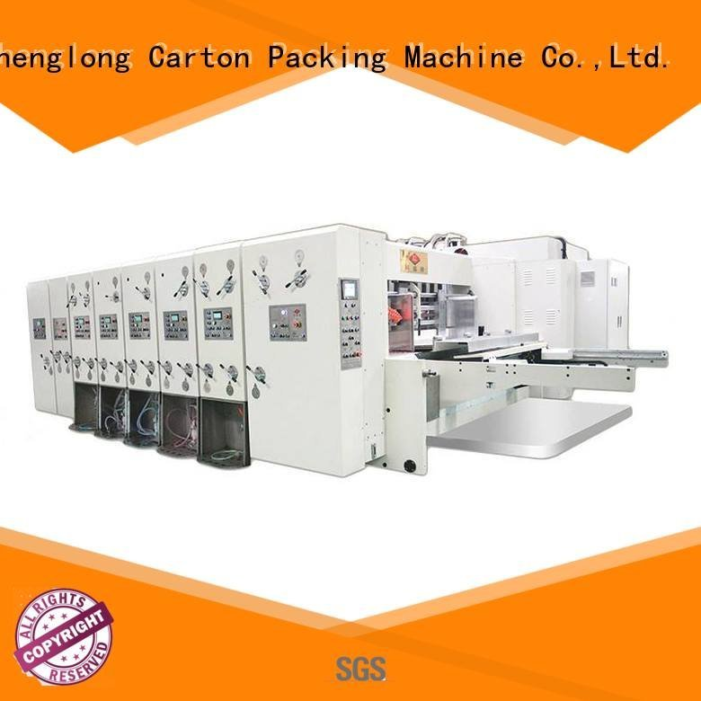 four color automatic printing slotting die cutting machine KeShengLong flexo printing and die cutting machine