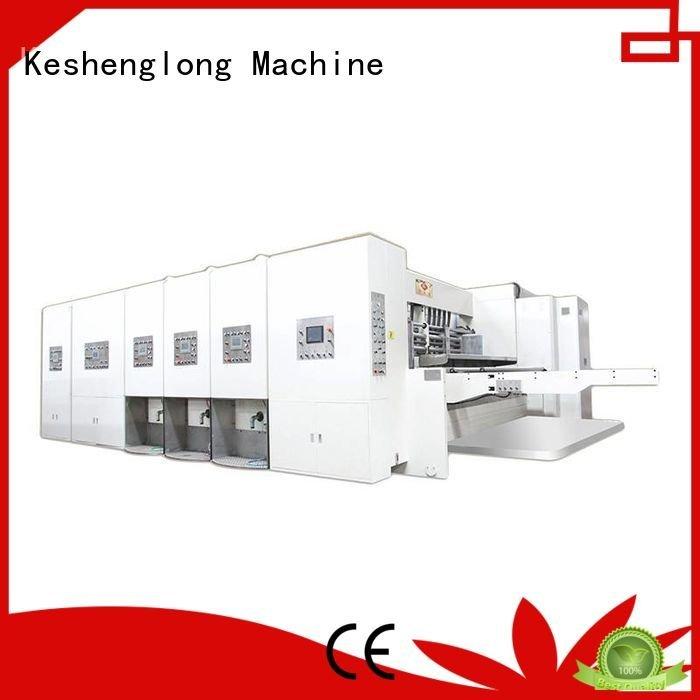 flexo printing and die cutting machine die four color automatic printing slotting die cutting machine