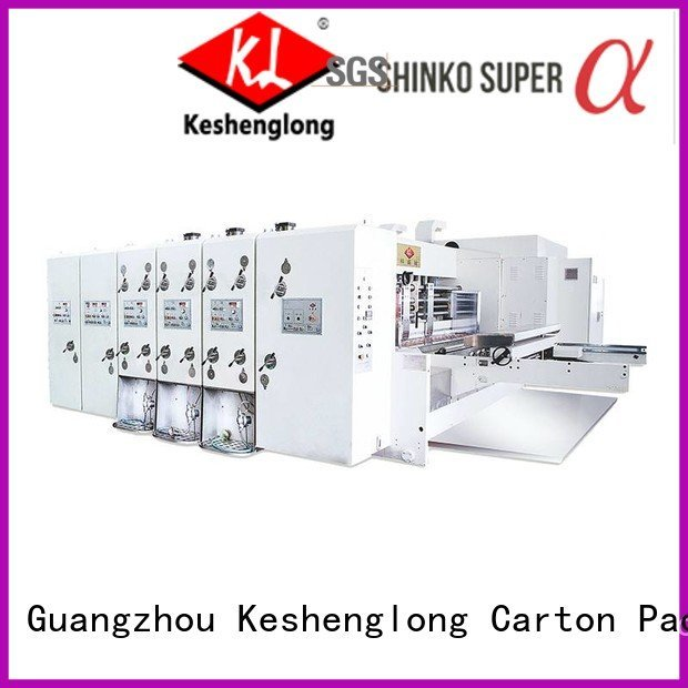 KeShengLong Brand cutting printing four color automatic printing slotting die cutting machine six color