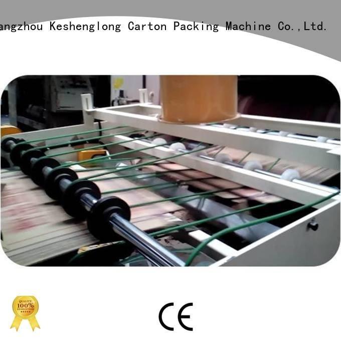 KeShengLong Brand pe1280 prefeeder palletizer cardboard box printing machine kmd