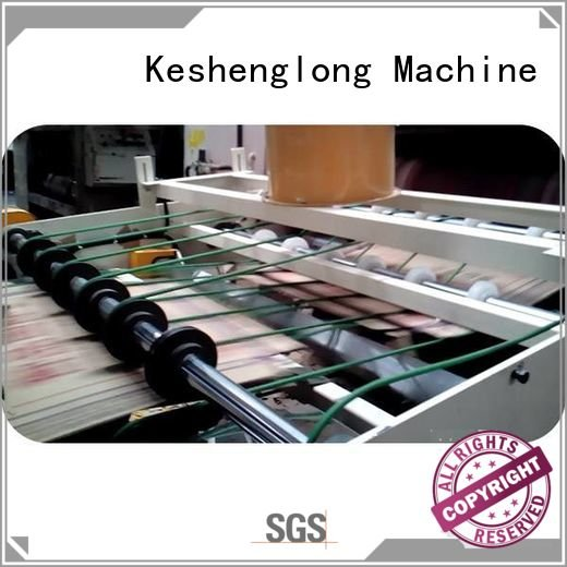KeShengLong Brand PFA cardboard box printing machine four color Auxiliary