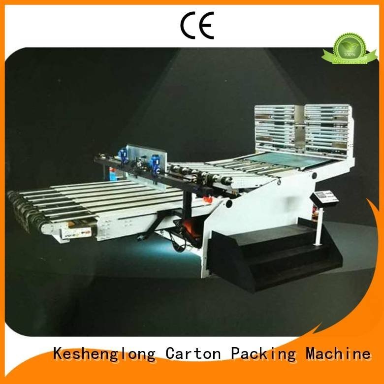 Auxiliary China cardboard box printing machine four color KeShengLong