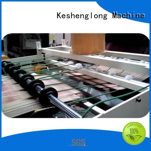 cardboard box printing machine Auxiliary four color cardboard box printing machine KeShengLong Warranty