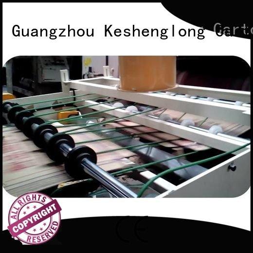 cardboard box printing machine four color PFA three color KeShengLong