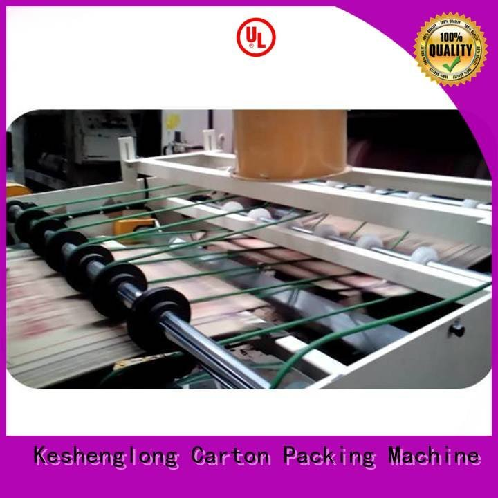 cardboard box printing machine four color KeShengLong Brand cardboard box printing machine