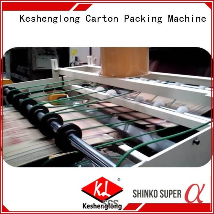 four color Top cardboard box printing machine KeShengLong