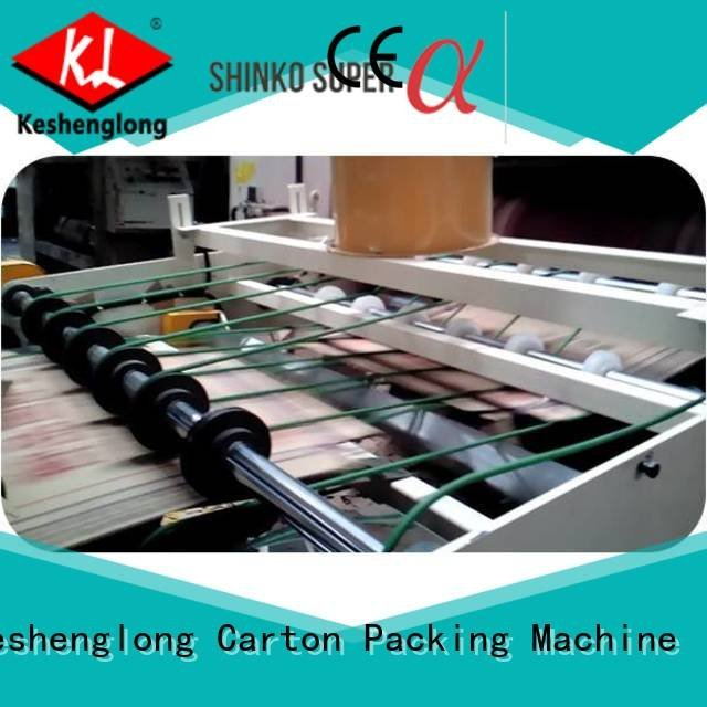 KeShengLong cardboard box printing machine four color Auxiliary Top PFA
