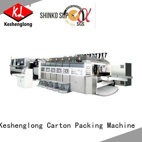 Custom HD flexo printer slotter inline structure servo KeShengLong