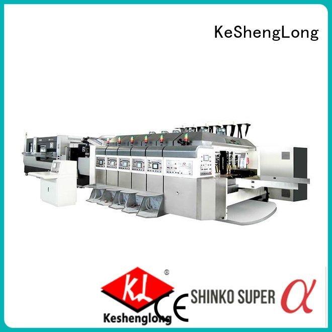 inline K8-Type gluing KeShengLong HD flexo printer slotter