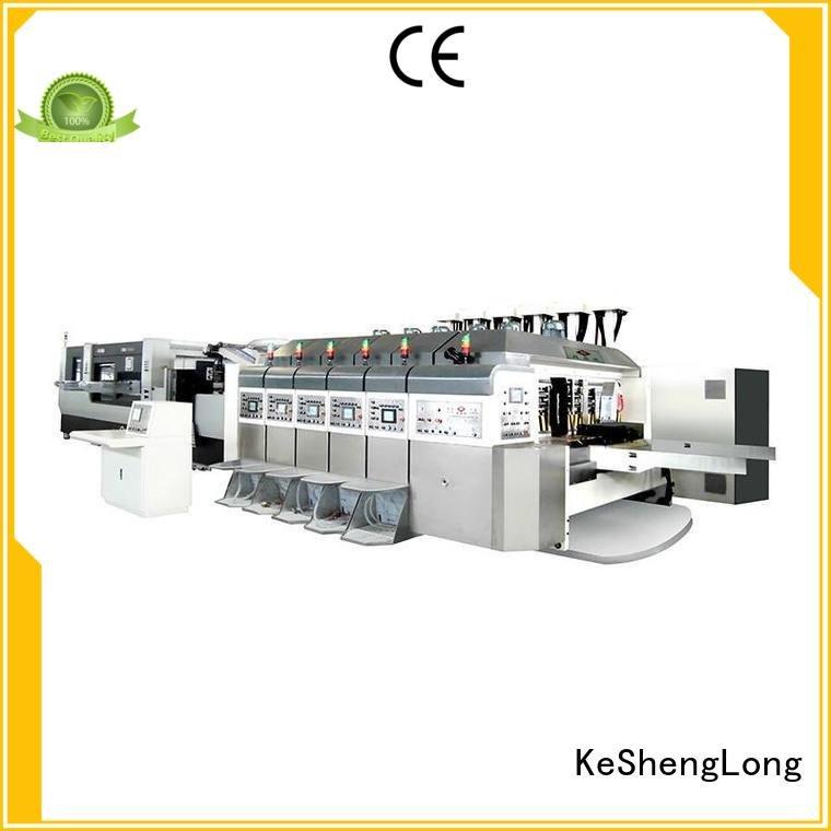 China hd flexo flat fixed OEM HD flexo printer slotter KeShengLong