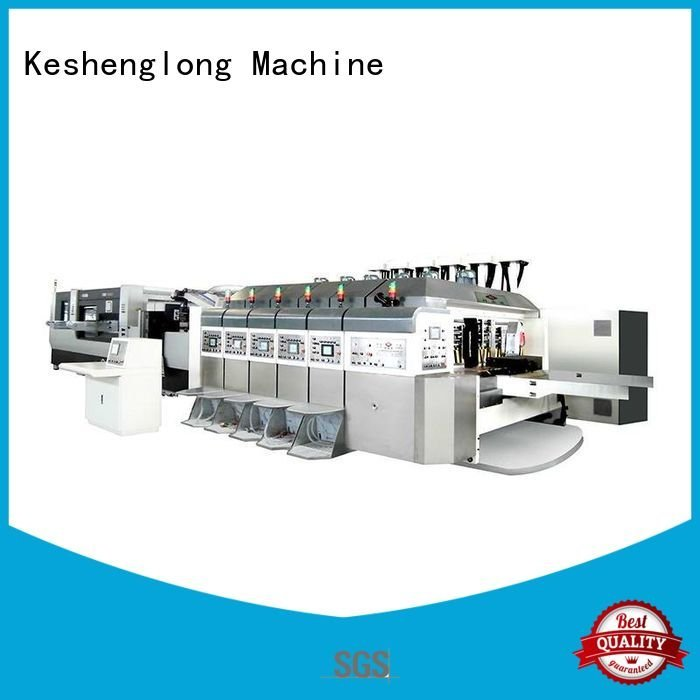 goutering gluing slotting automatic KeShengLong China hd flexo